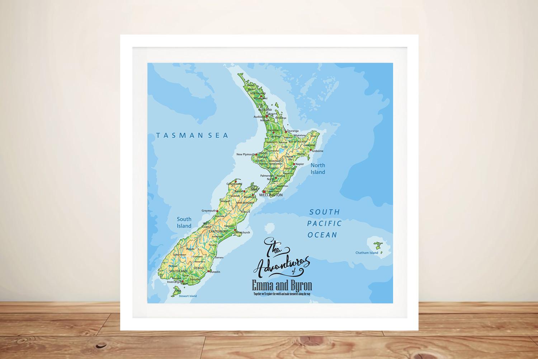 New Zealand Customised Pushpin Map   New Zealand Custom Push Pin Map