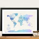 Buy-Watercolour-World-Map-Canvas-Art-Online