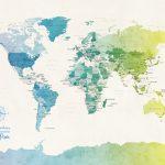 m1088-Watercolour-Political-Map-of-the-World