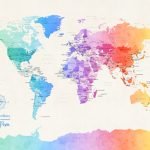m1275-Watercolour-Political-Map-of-the-World