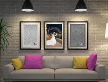Buy Personalised Triptych Wedding Vows Art