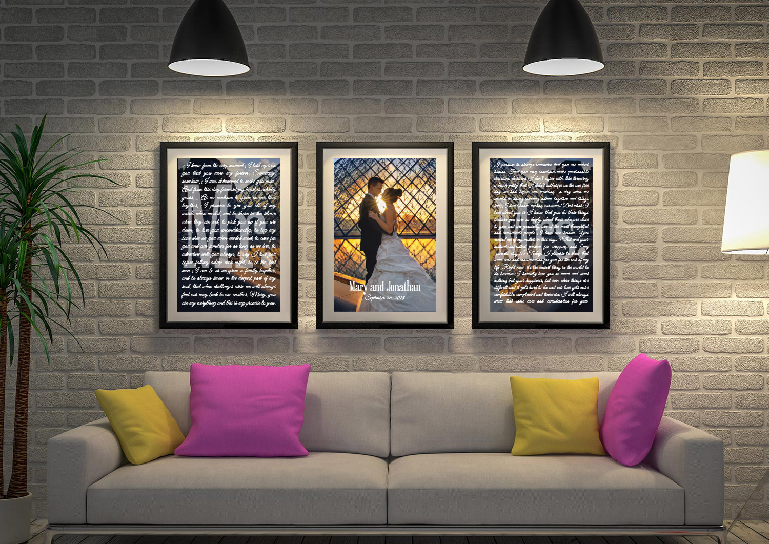 Buy Ready to Hang Custom Wedding Gift Wall Art