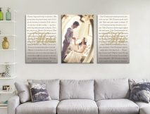 Buy Custom Split Canvas Wedding Vow Wall Art