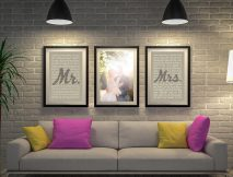 3 Piece Wedding Vows Canvas Art