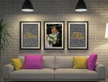 Buy Custom Triptych Wedding Vow Artwork