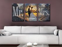 Buy Personalised Marriage Vows Canvas Art