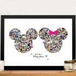 Mickey & Minnie Mouse Disneyland Photo Collage