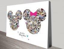 Disney Photo Collage canvas print