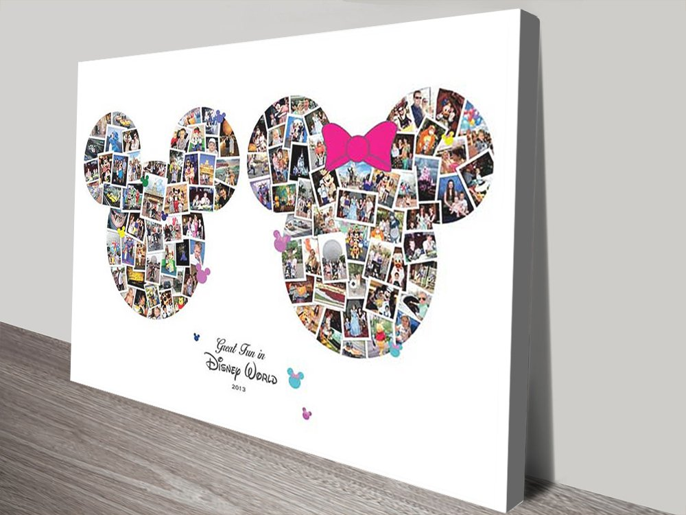Disney Photo Collage canvas print   Mickey & Minnie Mouse Photo Collage