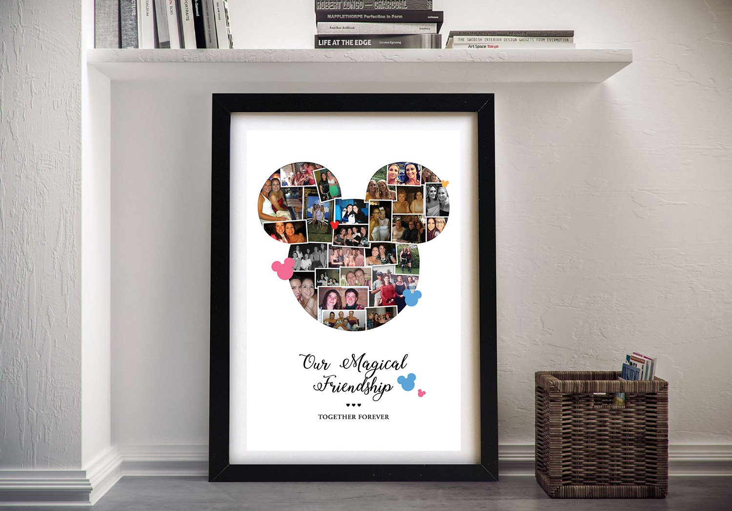 Buy Mickey Mouse Photo Collage Framed Artwork | Mickey Mouse Photo Collage 1