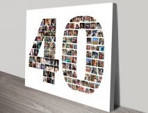 Custom Number Photo Collage Wall Art
