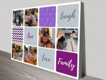 Buy a Colourful Personalised Photo Collage