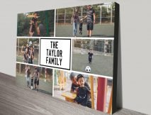 Family Matters Custom Collage Canvas Art
