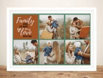 Family Squares Personalised Photo Collage