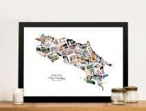 Costa Rica Photo Collage Custom Canvas Artwork