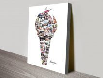 Torch Photo Collage Sports Fans Wall Art