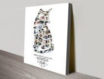 Custom Animal Shaped Photo Collage Artwork