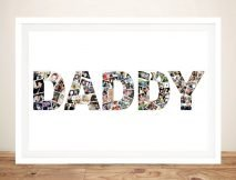 Framed Daddy Photo Collage Print on Canvas