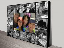 Stretched Canvas Photo Collage Custom Designs