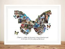 Stretched Canvas Butterfly Photo Collage