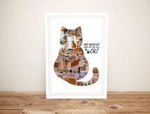 Framed Personalised Cat Photo Collage Artwork
