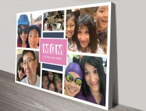 Personalised Colour Pop Photo Collage Print