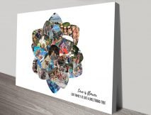 Buy a Flower Shape Photo Collage Print