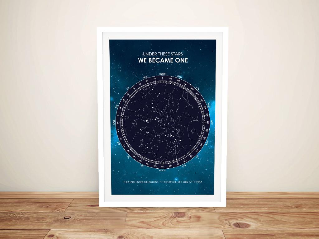 Get a Personalised Galaxy Star Map Print | Galaxy Star Map Design
