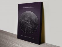 Personalised Moon Star Map Canvas Print