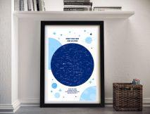 Buy a Framed Custom Newborn Baby Star Map