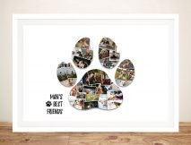 Custom Paw Print Photo Collage Canvas Print