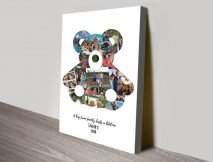 Teddy Bear Personalised Photo Collage Art