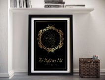 Buy a Personalised Gold Vintage Star Chart