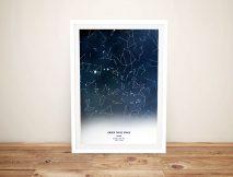 CustomNight Stars Constellation Map Art