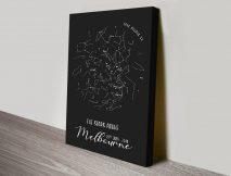 Personalised Star Map Wall Art in Black