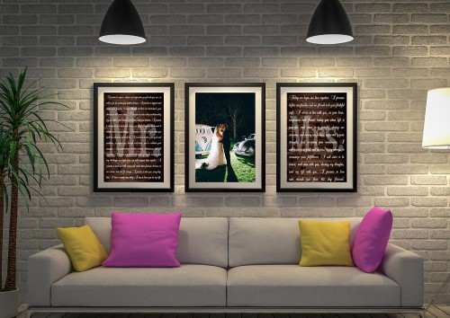 3 Piece Wedding Vows Art