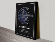 Death Star Personalised Star Chart Canvas Art