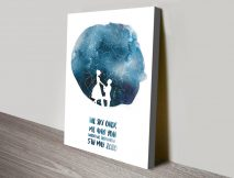 Watercolour Silhouette Star Chart on Canvas