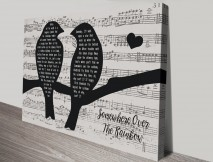 Buy Songbirds Unique Personalised Wall Art