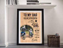 To My Dad Custom Fathers Day Gifts