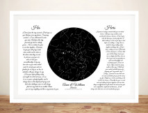 Buy a Framed Wedding Vows Star Chart