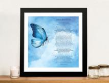 Framed Personalised Poem Canvas Print
